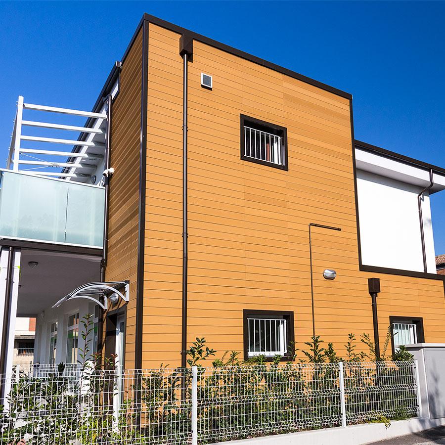 Rivestimento di facciata archivi tecnodeck - Dimensione casa san lazzaro ...