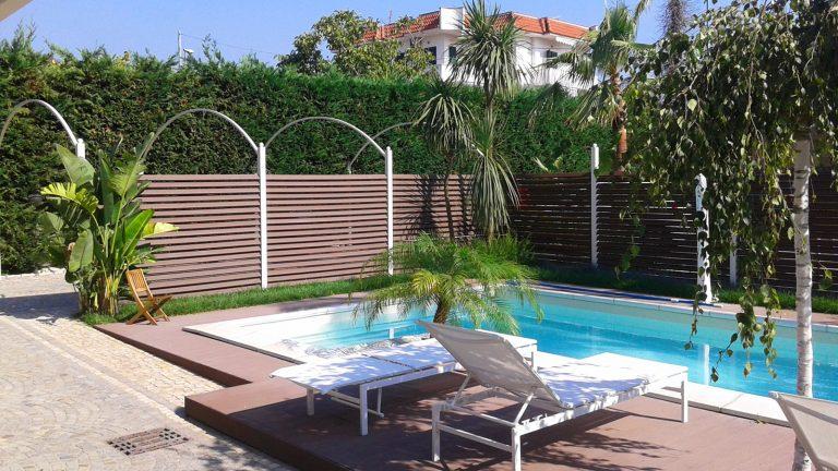 Progetto con recinzione e pavimento casa privata provincia di Napoli panoramica