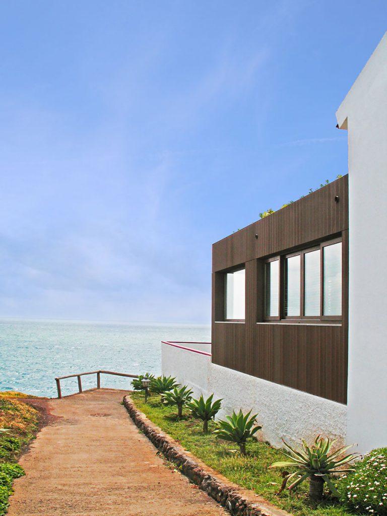 Villa privata Madeira facciata lato