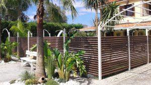 Progetto con recinzione e pavimento casa privata provincia di Napoli recinzione angolo