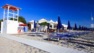 Stabilimento balneare trattoria Rossi panoramica lato spiaggia