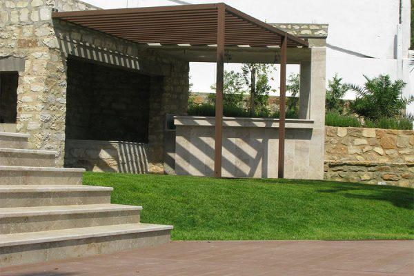 Villa privata frangisole panoramica lato