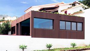 Villa privata Madeira facciata panoramica