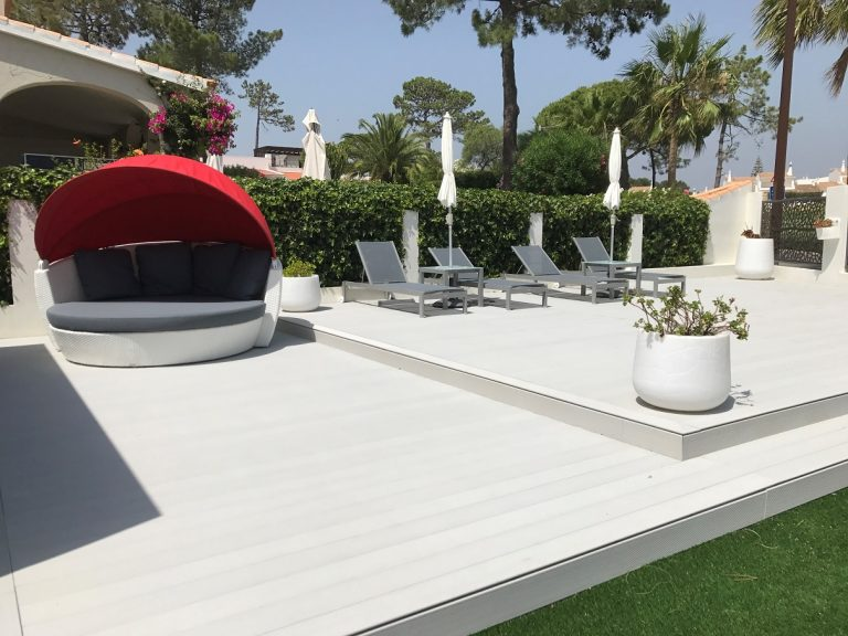 Decking casa privata, TECNODECK white shade